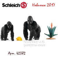 Schleich 42382 Гориллы добывают еду Gorillas foraging
