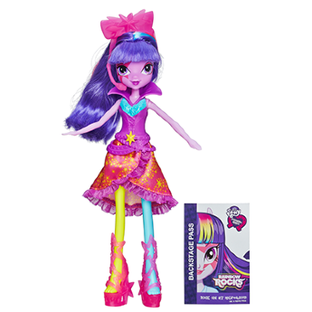 Hasbro A3994 My Little Pony Сумеречная искорка Equestria Girls Neon Rainbow Rocks Twilight Sparkle Doll