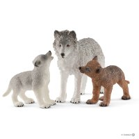 SCHLEICH 42472 Mother wolf with pups